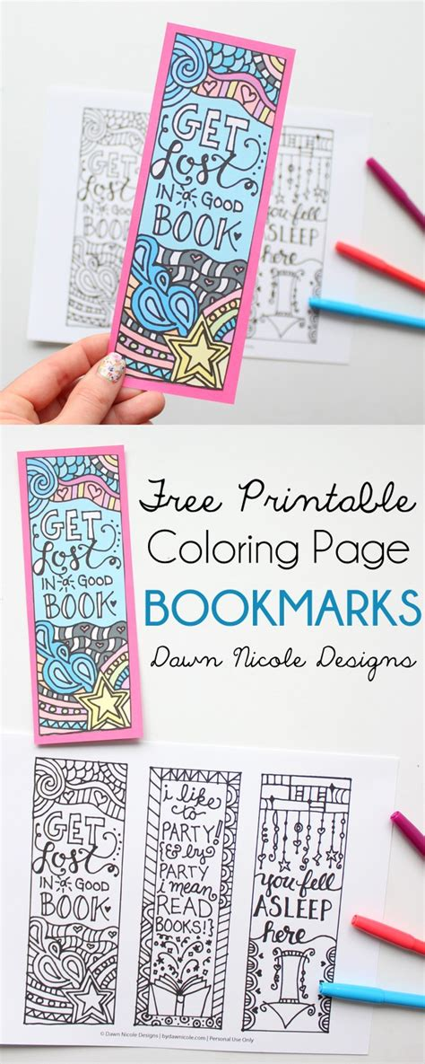 printable bookmark ideas free printable coloring page bookmarks dawn nicole designs 174