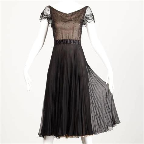 vintage beaded dresses for sale oscar de la renta vintage black silk beaded dress with
