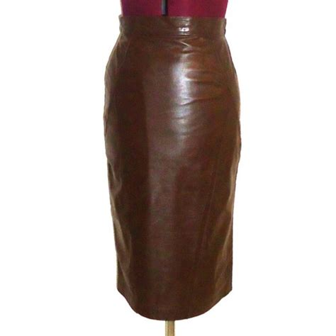 71 vintage dresses skirts 80s brown leather high