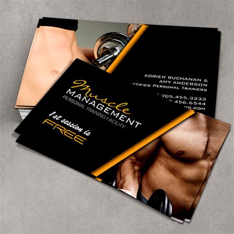 free personal trainer business card templates certified personal trainer business cards