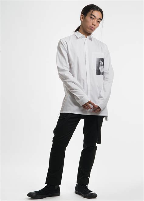 Original Magnificents Collar Listed Sleeve Kemeja White helmut lang white irma sleeve shirt garmentory