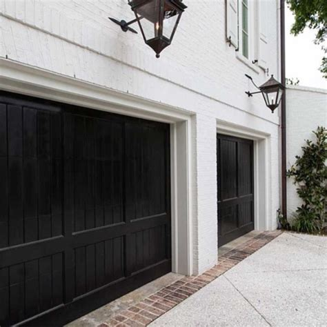 Black Garage Doors Monochrome Traditional Dream Black Garage Door