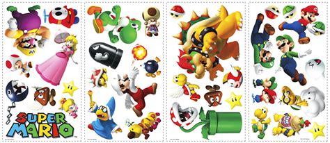 Sticker Names For Walls roommates wandsticker wandtattoo super mario www 4 haen de