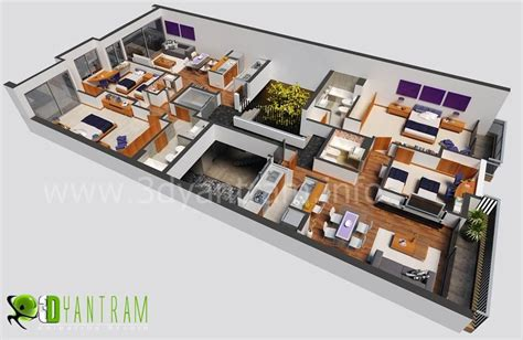 Best Free 3d Room Planner 3d house floor design by ruturaj desai 3d artist
