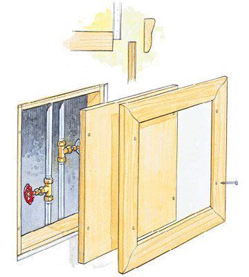 plumbing access door framed access panel diy basements drywall and house