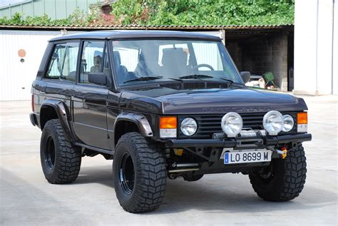 land rover modified brown salamander v8 range retro rides range rover