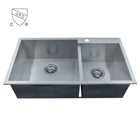 Handmade Kitchen Sinks - stainless steel handmade kitchen sink dg3318 r0