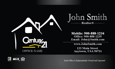 century 21 business card template custom century 21 business card design 102211