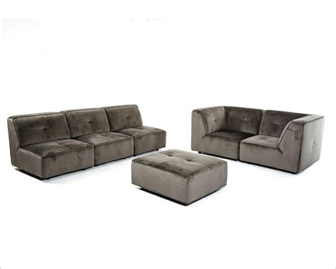grey fabric sectional sofa modern sectional sofa in dark grey fabric 44l5925
