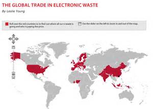 map of hazardous waste infographics maps music and more electronic waste
