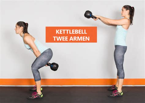 dan kettlebell swing instructies voor de kettlebell swing met twee armen