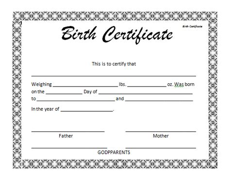 birth certificate word template birth certificate template madinbelgrade