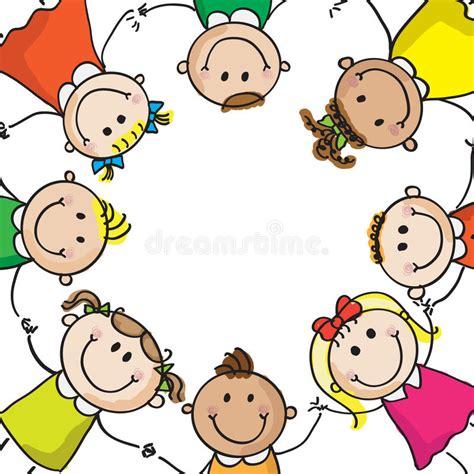 bambini clipart bambini in un cerchio illustrazione vettoriale