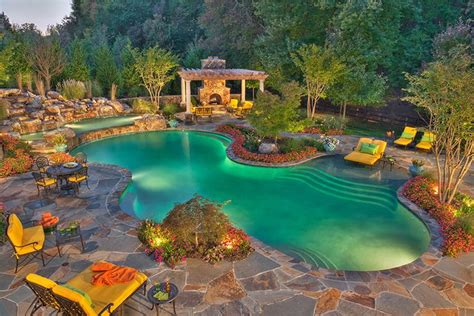 Backyard Pool Ideas Modern Magazin Amazing Backyards With Pools