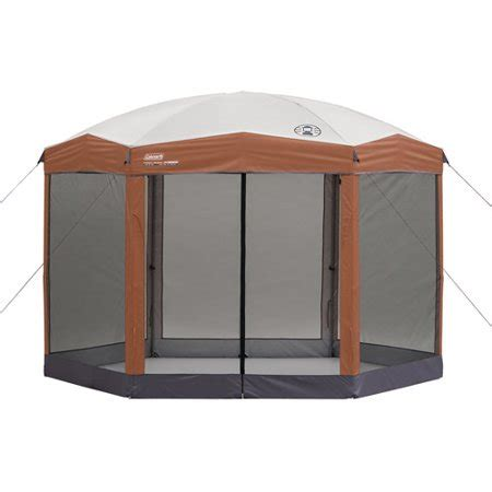 gazebo coleman coleman 12 by 10 foot hex instant screened canopy gazebo