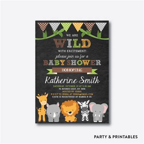 Safari Themed Baby Shower Invitations by Best 20 Jungle Baby Showers Ideas On Jungle