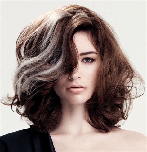 hair with grey streaks hair colour trends for fall winter 2014 angelahairbeauty