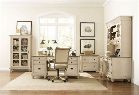 Beautiful white office furniture collections, both in