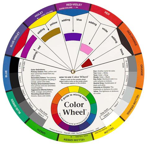 Color Wheel Scheme Free Coloring Pages Of Colour Wheel