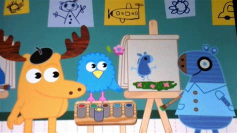 painting on nick jr moose and zee henrietta painting