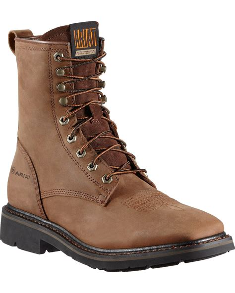 mens lace up work boots ariat s cascade 8 quot lace up work boots boot barn