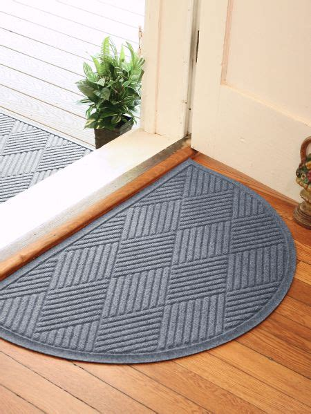 Half Doormat by Half Circle Waterhog Mat Indoor Outdoor Doormats