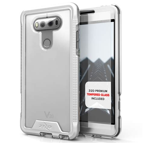 Tempered Glass Ume Lg V20 lg v20 ion hybrid cover tempered glass screen protector silver clear cellphonecases