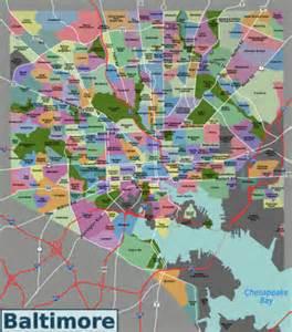 Baltimore City Zip Code Map by Baltimore Neighborhoods Map