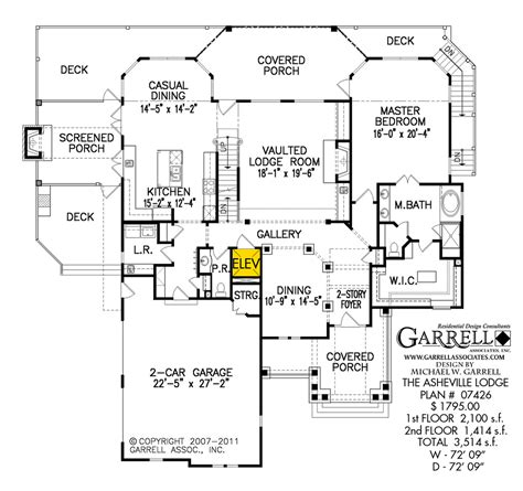 lodge floor plans asheville lodge house plan house plans by garrell
