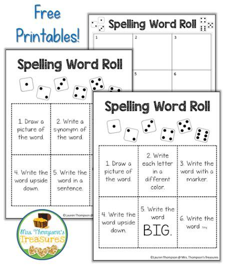 printable spelling word games 8 fun spelling word activities word work mrs thompson
