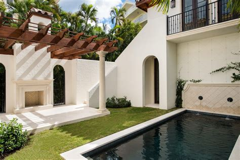 mediterranean style home  palm beach idesignarch