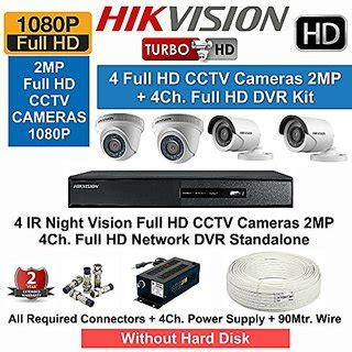 Paket Cctv Paket Cctv 4 Channel 2 2mp Plus Hardisk hikvision hd 2mp 4cctv bullet cameras 4ch hd dvr kit all accessories buy