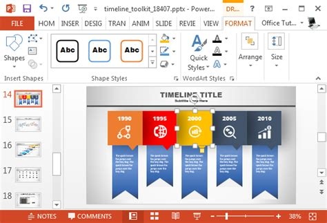 Animated Timeline Generator Template For Powerpoint Animated Timeline Maker