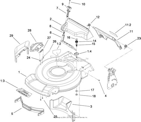 toro parts diagram toro 20332 22in recycler lawn mower 2009 sn 290000001