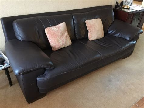 Natuzzi Brown Leather Couch For Sale In Ballinteer Dublin Natuzzi Brown Leather Sofa