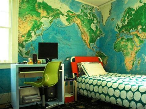 world map room 50 einrichtungsideen f 252 r jugendzimmer denken sie bunt und kreativ