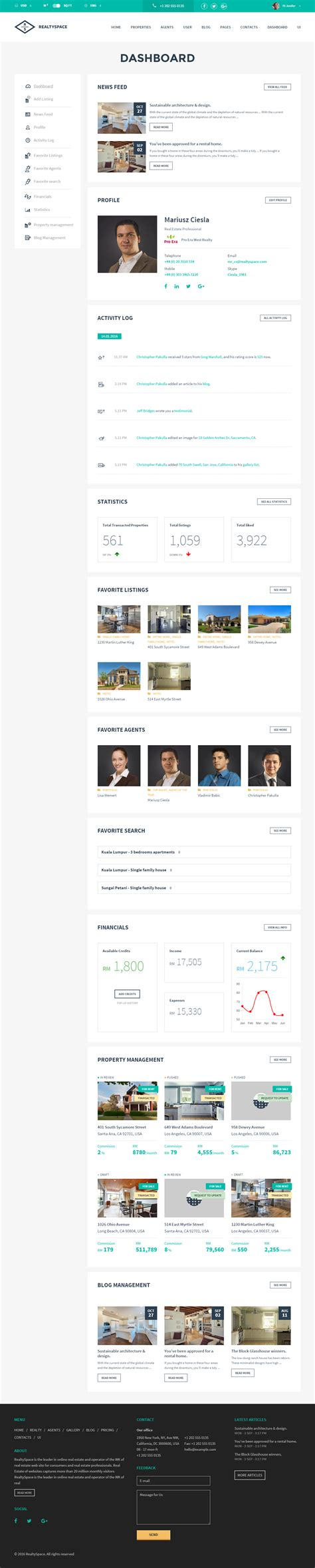 Realtyspace V2 2 Real Estate Html5 Template Dashboard Included realtyspace v2 1 2 real estate html5 template
