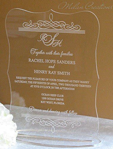 BESTLIFE Best selling Acrylic Scroll Shape Clear Wedding