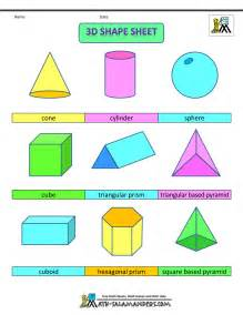 Shapes color 3 d shapes color no labels