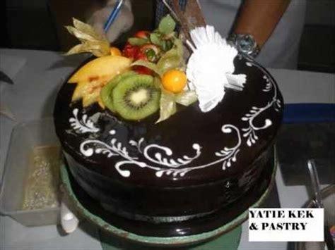 membuat kek coklat  mudah walaupun