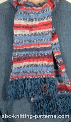 knitting pattern fair isle scarf abc knitting patterns fair isle scarf