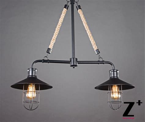 American Made Light Fixtures American Style Vintage Pendant Light Two Heads Bulbs Edison L Iron Made Flax Linen Rope Free