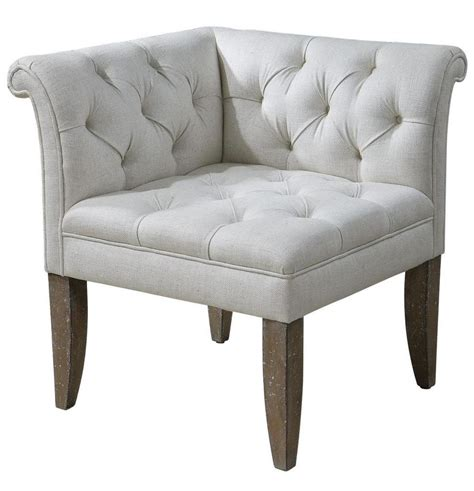 corner armchair classic tufted chesterfield corner chair sofa ivory white