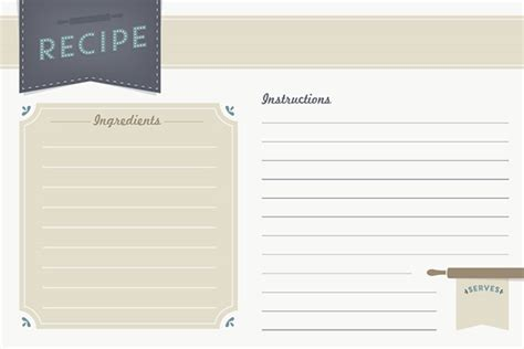 vintage recipe card psd template freebie recipe card printable
