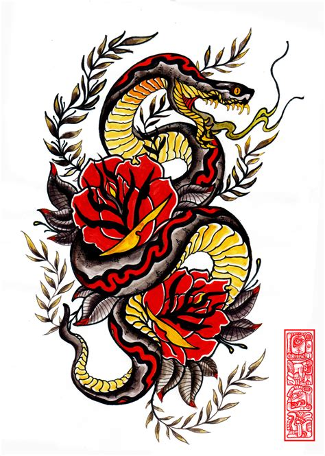 traditional snake tattoo snake arm by burke5 on deviantart