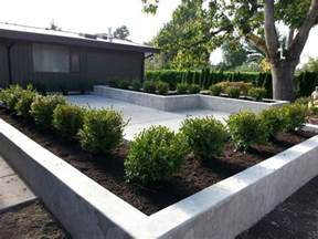Raised Garden Bed On Concrete Patio by Concrete Patio And Planters Sublime Garden Design