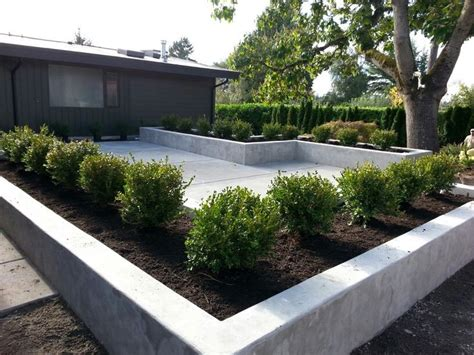 Ideas Design For Cement Planters Concept Concrete Patio And Planters Sublime Garden Design Concrete Patios Patio And