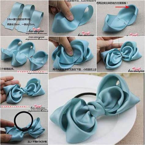 creative ideas diy and ribbon how to diy satin ribbon bow hair accessory icreativeideas