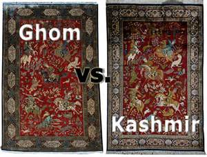 Ebay Antique Persian Rugs Silk Kashmir Rug Vs Silk Ghom Rug Quot Persian Quot And Quot Indian