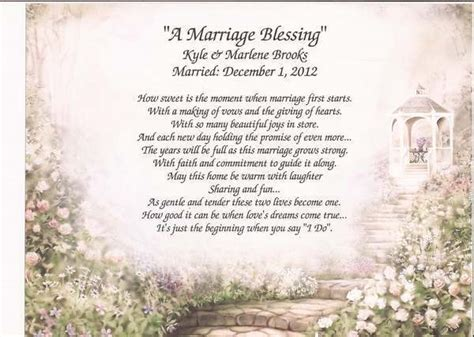 Wedding Blessing For My by Quot A Marriage Blessing Quot Personalized Poem For Wedding